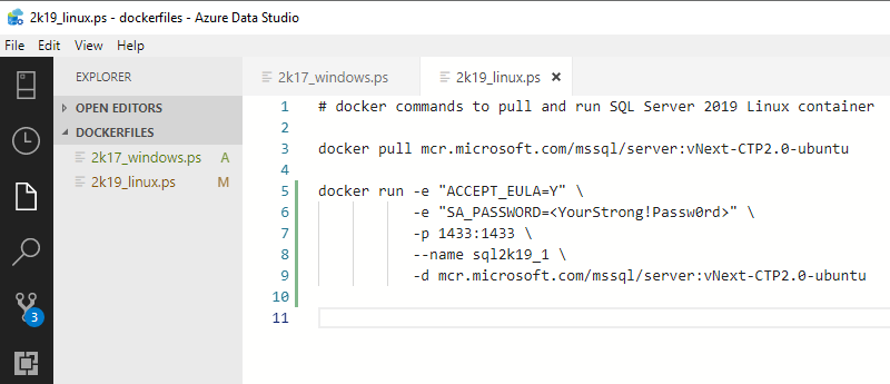 SQL Server 2019 for Linux in Docker on Windows • Niels Berglund